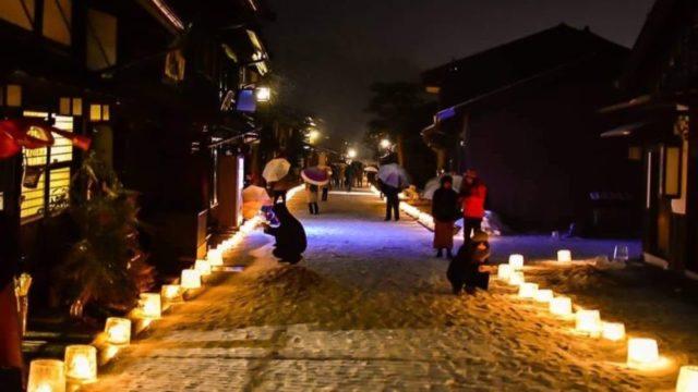奈良井宿アイスキャンドル