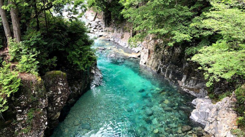 奈良井宿 周辺観光 阿寺渓谷